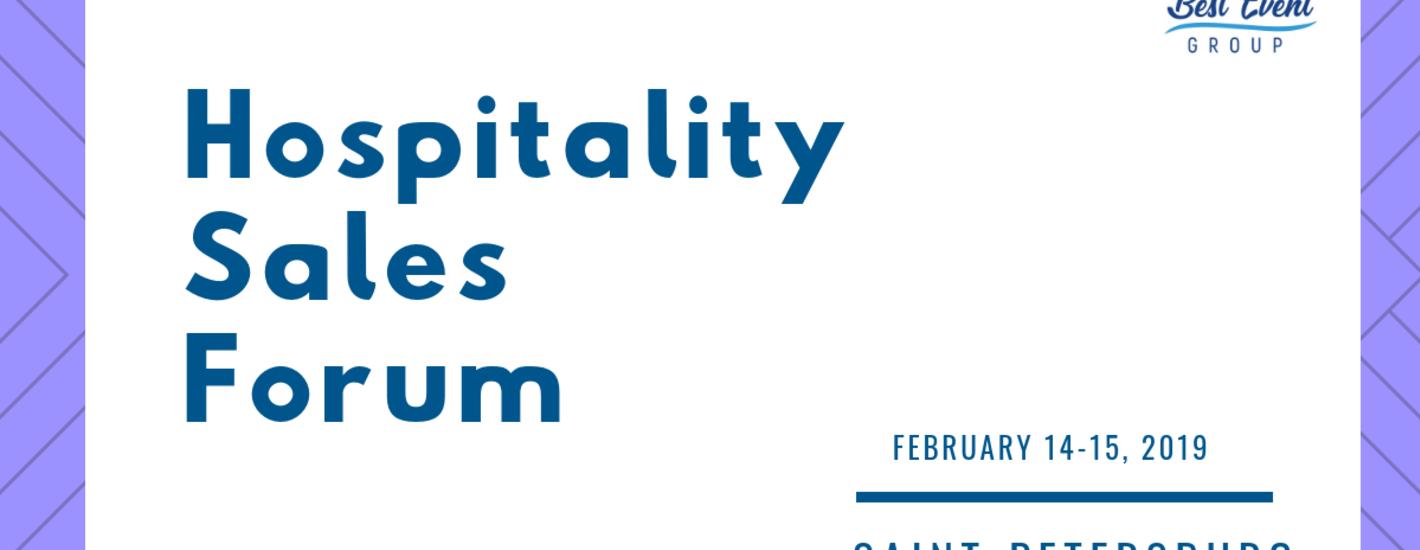 HOSPITALITY SALES FORUM. Форум по продажам в индустрии гостеприимства